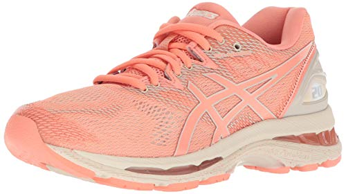 ASICS Women's Gel-Nimbus 20 Running Shoe, cherry/coffee/blossom, 6 Medium US