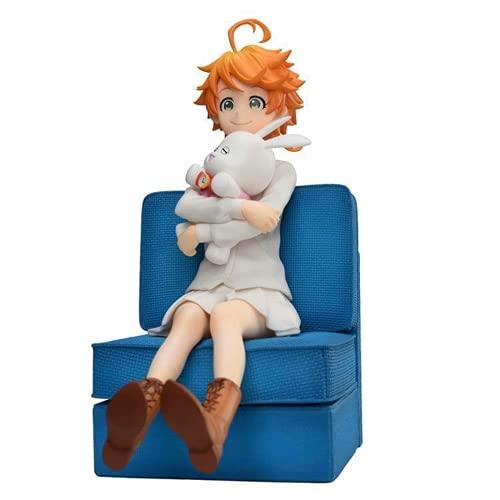 Boneco The Promised Neverland de 16 cm Livro de Leitura Ray & Take a Teacup Norman & Hug a Rabbit Emma Figura de Ação (Emma)