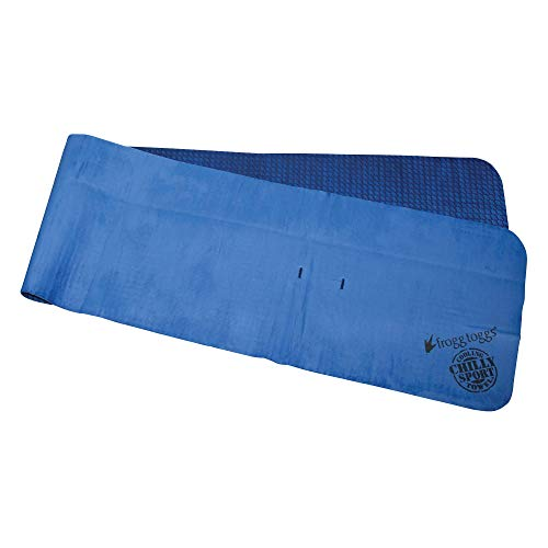 """FROGG TOGGS Chilly Sport Cooling Neck & Head Band Towel, Size 7.5"""" x 33"""", Varsity Blue (CSD105)"""