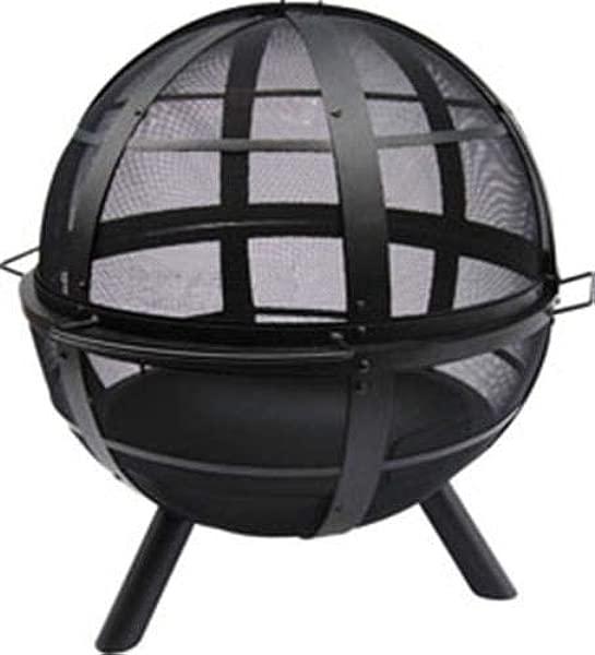 Landmann USA 28925 Ball Of Fire Outdoor Fireplace Black