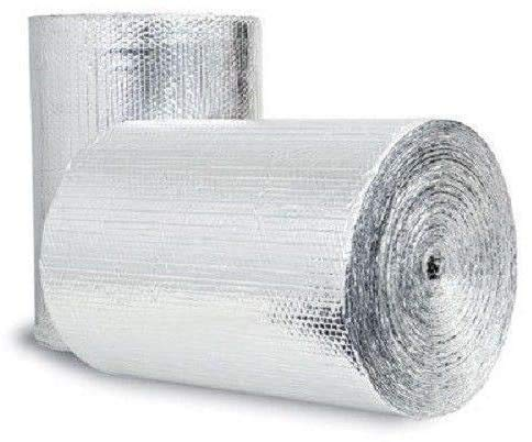 Double Bubble Reflective Foil Insulation 30sf (72inch X 5Ft Roll) Industrial Strength, Commercial Grade, No Tear, Radiant Barrier Wrap for Weatherproofing Attics, Windows, Garages, RV's, Ducts ETC