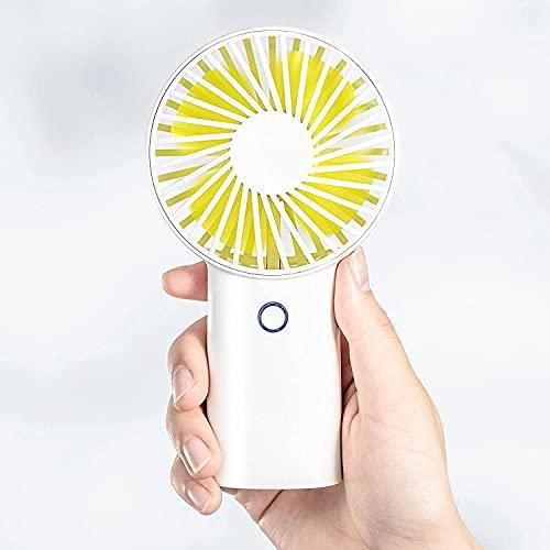 Ventilador personal portátil con batería de 4000 mAh hasta 20 horas, pequeño silencioso, viento mejorado, para exteriores, viajes, hogar, oficina, color blanco