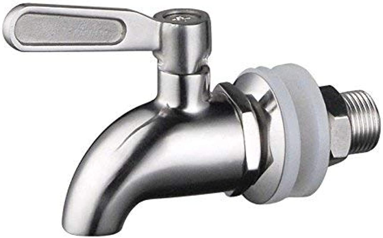 NOFDA 304 Stainless Steel Polished Finished Product Beverage Dispenser Replacement Spigot Fits Berkey And Other Gravity Filter Systems As Well