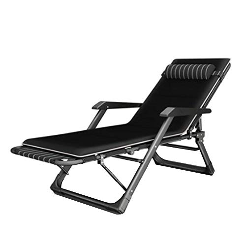 Outdoor Chair Recliner Zero Gravity Chair Patio Folding Lawn Lounge Chairs Lounge Gravity Chair Camp Reclining with Pillows for Poolside Backyard and Beach-H