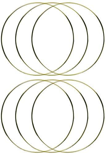 6-Pack - Darice Gold Metal Ring, 12-Inch