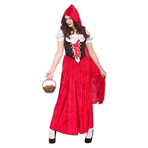 Deluxe Red Riding Hood Ladies Fancy Dress Costume Halloween