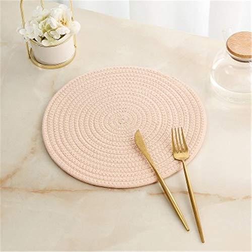 GUOCAO Coaster Table Mat Isolierung Schüssel Pad weicher handgefertigte ovale runder Entwurf Baumwolle Antiverbrühschutz Platzdeckchen Beleg Küchenzubehör Matte (Color : 6, Size : Round)