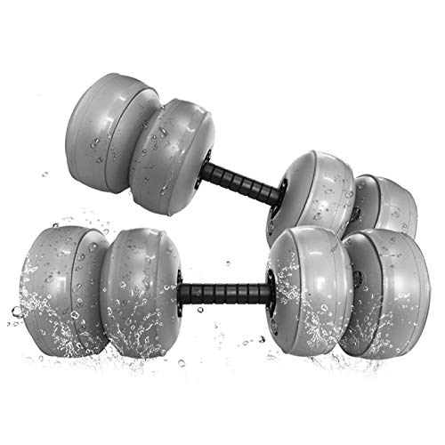 Nevay Mancuernas llenas de agua de 30 a 35 kg de peso ajustable de mano seguro y suave, portátil y antibalanceo ideal para entrenamiento de levantamiento de pesas, gimnasio en casa