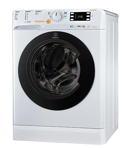 Indesit XWDE 1071481XWKKK EU Independiente Carga frontal A Blanco lavadora - Lavadora-secadora (Carga frontal, Independiente, Blanco, Izquierda, Botones, Giratorio, 71 L)