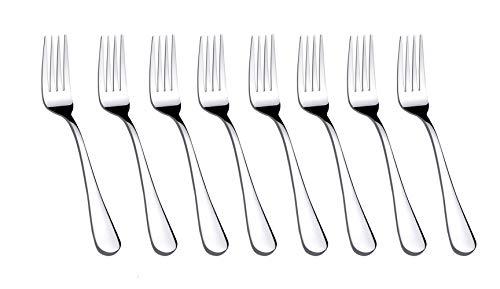 CDOFFICE 8 PCS Stainless Steel Salad Forks Dessert Forks (7.2 inches)