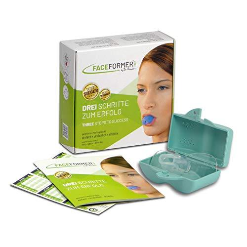 FaceFormer kristallklar • Effektiv bei Schnarchen, Schlaf-Apnoe, Zähneknirschen, CMD, Schmerzen u.v.m. • Original Dr. Berndsen • (Box pastell-türkis)