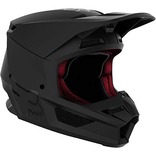 Fox Racing Matte Men's V1 Off-Road Motorcycle Helmet - Matte Black/Medium
