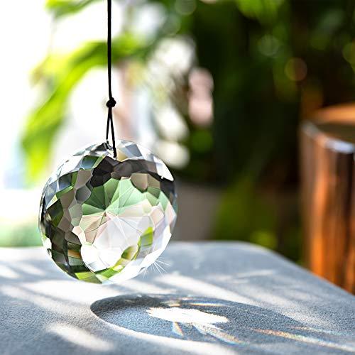 Hanging Crystal Suncatcher Chandelier Crystals Prisms Clear Chandelier Crystals Flower of Life Prisms Suncatcher Window Hanging Ornament Crafts75MM