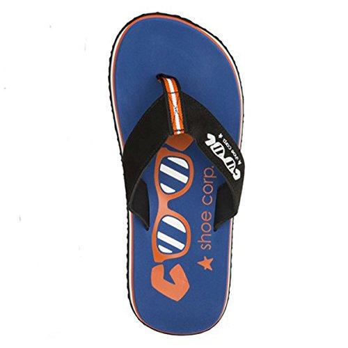 Cool Shoes Original Slight Strong, Blau Flip Flops Sandalen Zehentrenner Strandlatschen Badeschlappe (41/42)