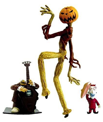 Figurine de Luxe Spéciale Dixième Annivernsaire 32 cm Jack Pumpkin King, Lock, Band man A ; Jun Planning ( Etrange Noël de Monsieur Jack - Nightmare Before Christmas - NBX ) Tim Burton