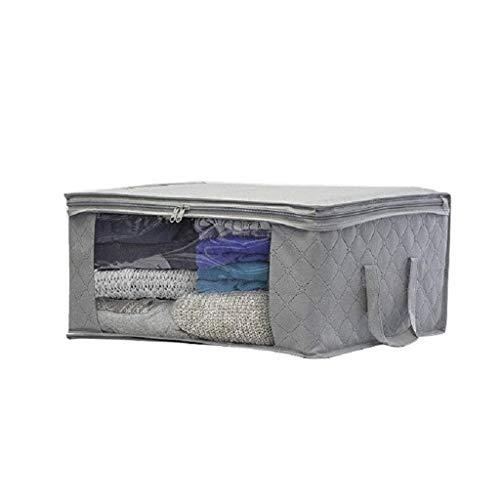 JJZXD Edredón Bolsas de Almacenamiento Grandes Ropa Lavandería Edredón Almohadas Zapatos Debajo de la Caja de la Cama (Color : Gray)