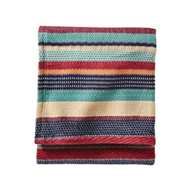 Pendleton Chimayo Stripe Cotton Twin Bed Blanket-Garnet