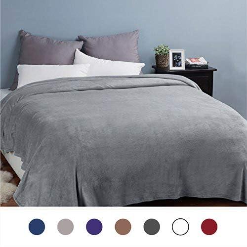 Bedsure Fleece Blankets Bedspread King Size Silver Grey - Luxury Extra  Large Bed Fleece Blankets Super 3d2e0feb5