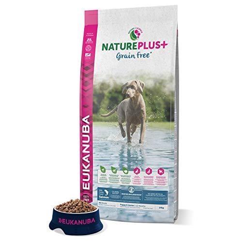 EUKANUBA NaturePlus+ Sin grano Cachorro y Junior Con salmón fresco congelado [14 kg]