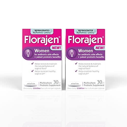 Florajen Women High Potency Refrigerated ProbioticsMaintains Women's Healthfor Antibiotic Side Effects60 Capsules