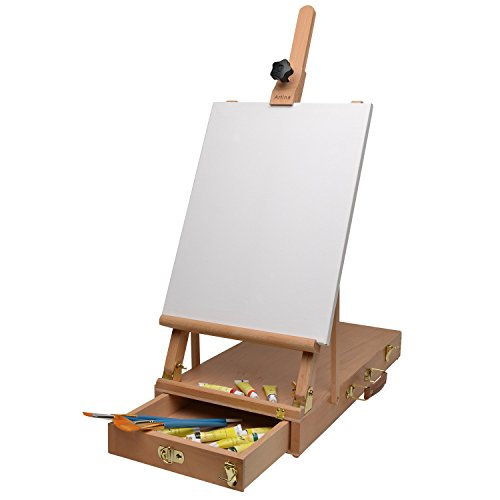 Artina Desktop Easel Le Mans Tabletop Painting Easel Wooden Display Stand Foldable Canvas Holder Mobile Easel