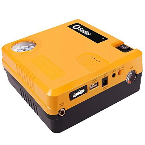 LALEO Arrancador de Coches Powerbank Jump Starter 400A 12000mAh 12V (hasta 6, 0L Gasolina o 4, 0L Diesel), IP68 Impermeable con Bomba de Aire Carga Rápida QC3.0 USB Linterna LED,Intelligent