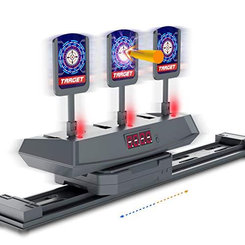 HOMILY Kids Toy Gun Digital Target-Electronic Moving Shooting Target Game Toy Scoring Timing Digital Target for Nerf Guns,Boys Girls Gifts Age of 5 6 7 8 9 10+ Years Old Kids