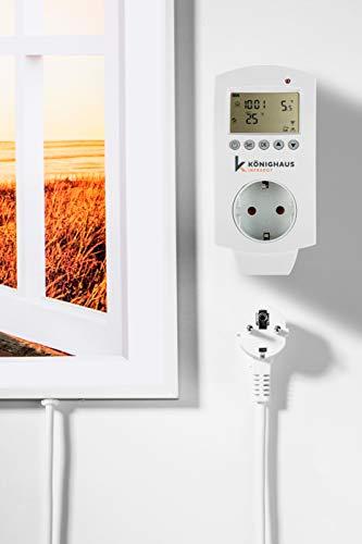 Könighaus Fern Infrarotheizung – Bildheizung in HD Qualität mit TÜV/GS – 200 Bilder – mit Könighaus Smart Thermostat und APP für IOS/Android – 1000 Watt (227 Fenster offen) Bild 2*
