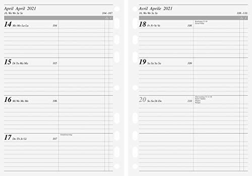rido/idé 7069915001 Wochenkalendarium/Zeitplansysteme 2021, 2 Seiten = 1 Woche, Blattgröße 14,8 x 20,8 cm, A5