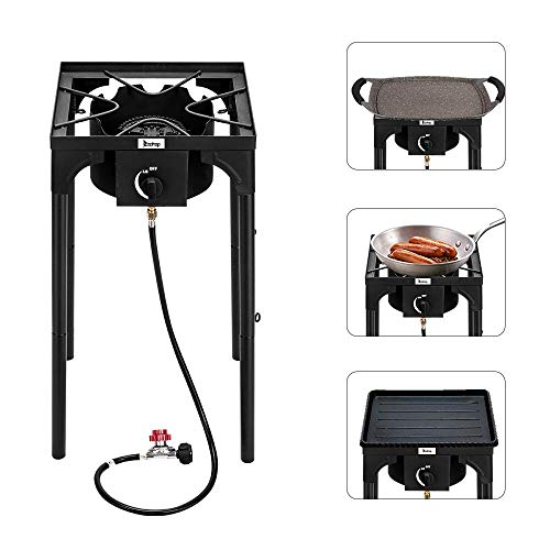 Lowest Prices! Outdoor Camp Stove,Single Propane Burners Outdoor Stove,High Pressure Gas Cooker Port...