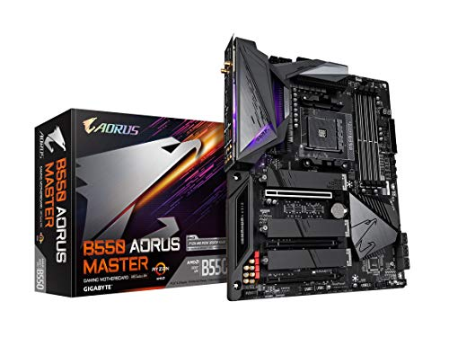GIGABYTE B550 AORUS Master (AM4 AMD/B550/ATX/Triple M.2/SATA 6Gb/s/USB 3.2 Gen 2/WiFi 6/Realtek ALC1220-Vb/Fins-Array Heatsink/RGB Fusion 2.0/DDR4/Gaming Motherboard)