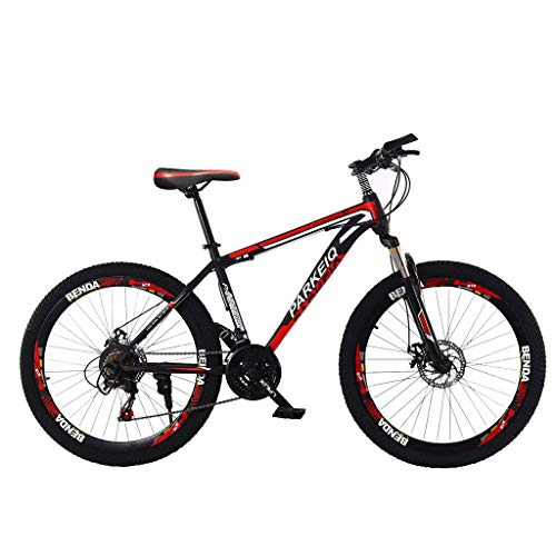 Psunrise Outroad Mountain Bike, 26 Inch Mountain Bike Outdoor with 21 Speed Bicycle Dual Disc Suspension MTB Bikes(26 Inch, Black)