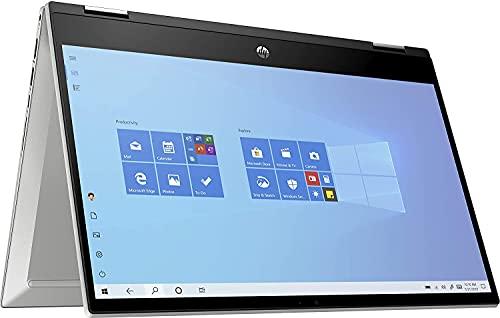 "HP - PC Pavilion X360 14-dw1021nl Notebook Convertibile, Intel Core i3-1115G4, RAM 8 GB, SSD 256 GB, Grafica UHD Intel, Windows 10 Home, Schermo 14"" FHD, Lettore Impronte Digitali, USB-C, Argento"