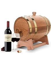 Barril de madera de roble de 3 litros, barril de vino, barril de whisky, dispensador de vino para guardar whisky, bourbon, tequila traje para casa, bar, fiesta y banquetes