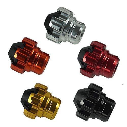 JDDRUS Parts, un par de ruedas delanteras de aluminio CNC para motocicleta, protección contra caídas, tapas antichoque para scooter, mopa, partes, Plateado