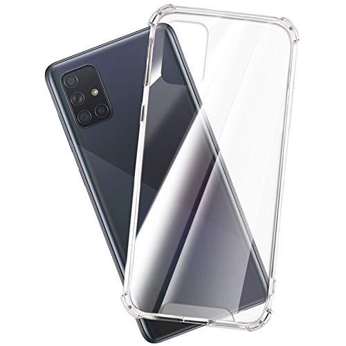 mtb more energy® Coque Crystal Armor pour OnePlus 6T (6.4'') - Couverture Rigide et Bords Souples - Coins renforcés - Étui Housse Pochette