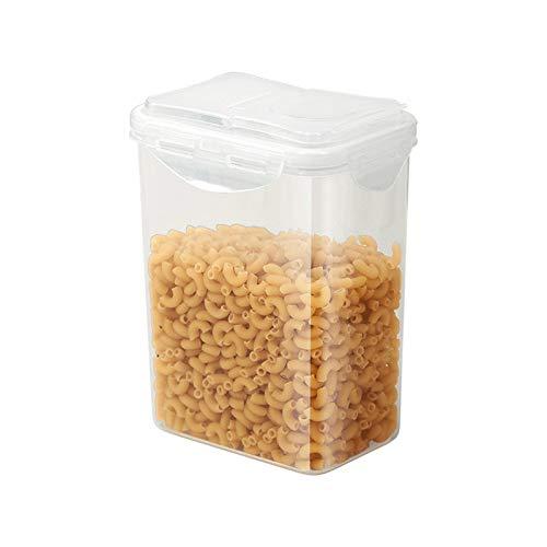 HMYLI Plástico Tarros del Almacenamiento Transparentes con Tapa, Frijoles Selladas latas Granos Enteros Almacenamiento Botella Botellas Jar para Cocina Organización despensa,1.8L