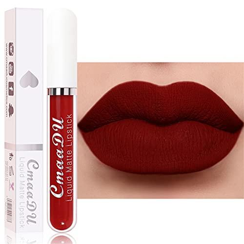 Matte Liquid Lipstick,Hot Sexy Non-Stick Cup Not Fade Lipgloss Waterproof Long Lasting Lip Stick,Women Girls Lippies Beauty Comestic Makeup Gift ,18 Colors for Choice
