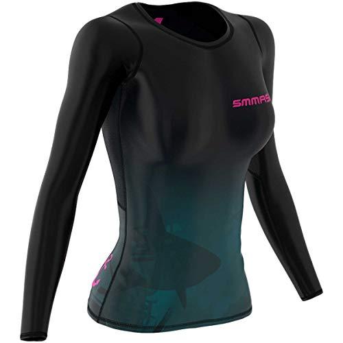 SMMASH Mermaid Sportiva Magliette Donna Manica Lunga, Yoga, Crossfit, Camicia Funzionale Top da Palestra, Gym Home, Materiale Antibatterico, Prodotto nell'Unione Europea (XS)