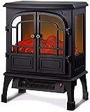 KAUTO Termostato eléctrico Regulable con Efecto Llama a Control Remoto con ventanilla panorámica sin Humo 510x320x650mm