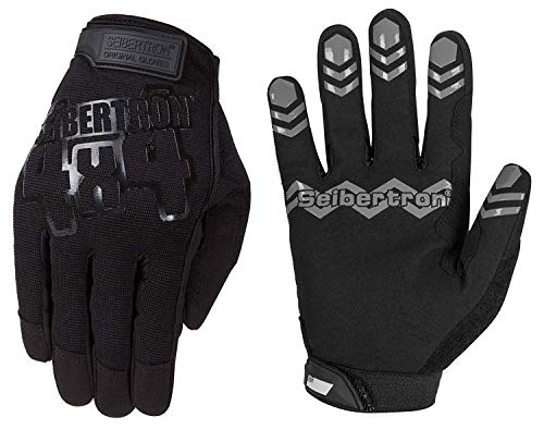 Seibertron Anti Slip Unweighted Basketball Handschuhe Ball Handling Gloves (Basketball Training Aid) Or Driving Erwachsener Handschuhe Black L