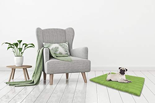 Waschbares Kissen für Hund 60x100cm grün...