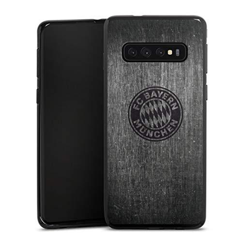 DeinDesign Silikon Hülle kompatibel mit Samsung Galaxy S10 Plus Case schwarz Handyhülle Metallic Look FCB FC Bayern München