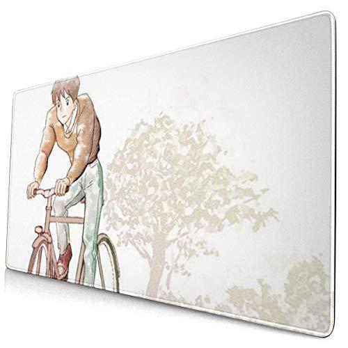 Alfombrilla de ratón extra grande Whisper of The Heart Hiiragi Aoi Studio Ghibli para escritorio – 15.6 x 29.5 pulgadas (3 mm de grosor) – XL – Alfombrilla protectora para ratón
