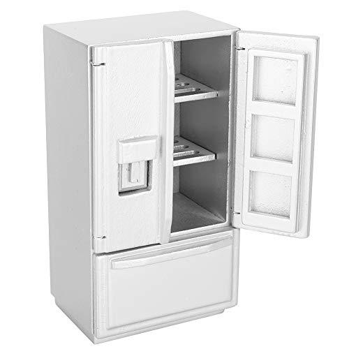 XiangXin Modelo de refrigerador, refrigerador con Puerta, Abedul de Dos Pisos, Puerta Doble, Hija, niños para niños, niños(Silver)