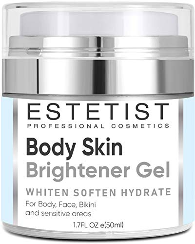 Skin Brightener Gel for Body, Face, Bikini and Sensitive Areas - Dark Spot Remover Cream