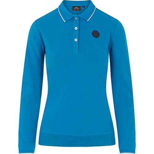 HV Polo Polo-Shirt Langarm Damen-Shirt Naomi (S, Dark Turquoise)