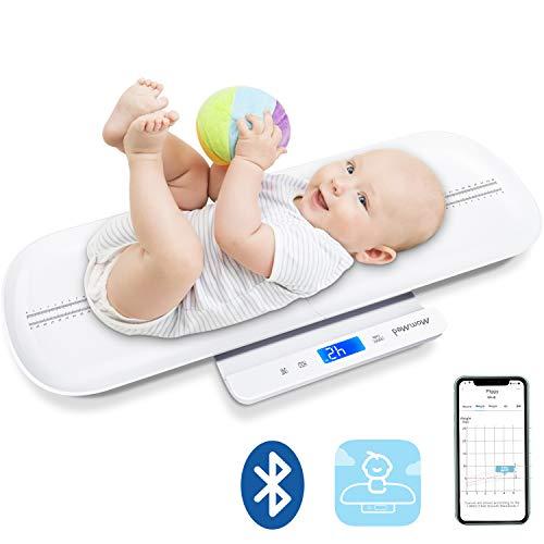 MOMMED Bluetooth Digitale Baby-Waage, Kleinkindwaage, Multifunktions-Waage für Haustiere und Kleinkinder in Pfund und Unzen, Baby-Gewichtswaage mit Baby Fit App