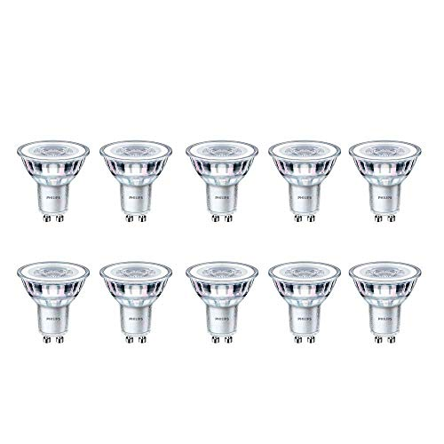 Philips CorePro LED-Spot, 4,6 W (50 W), GU10, 4000 K, Kaltweiß, 390 Lumen, 15000 Stunden, 36° Abstrahlwinkel, 10 Stück