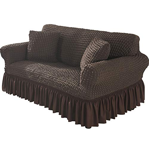 NOBCE Funda de sofá elástica para Sala de Estar Funda de sofá elástica Antideslizante Funda de sofá Funda de sofá Funda Protectora Universal marrón Oscuro 145-185CM